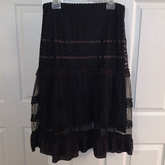 tableau division of: dame de france Dresses & Skirts - Vintage Tableau Dame de France Lace & Sheer Skirt